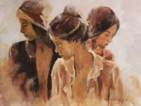 Tres chicas. David farrés Calvo